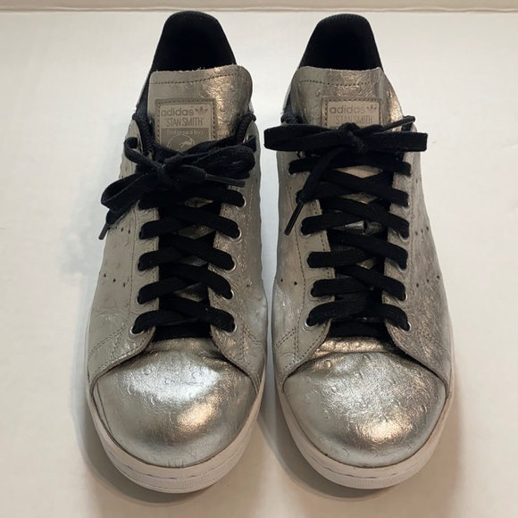 Adidas Stan Smith Silver Ostrich Sneakers
